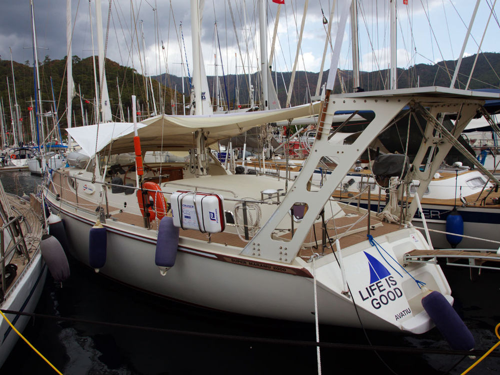 Yacht for sale > sailing boat Amel Super Maramu 2000 «Life is good